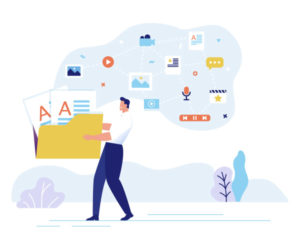 Man with SEO aspects